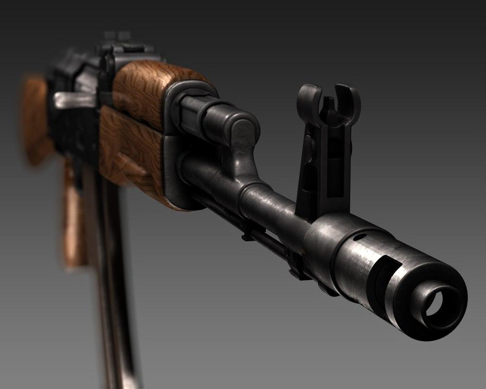 Kalashnikov AK 74 3D model