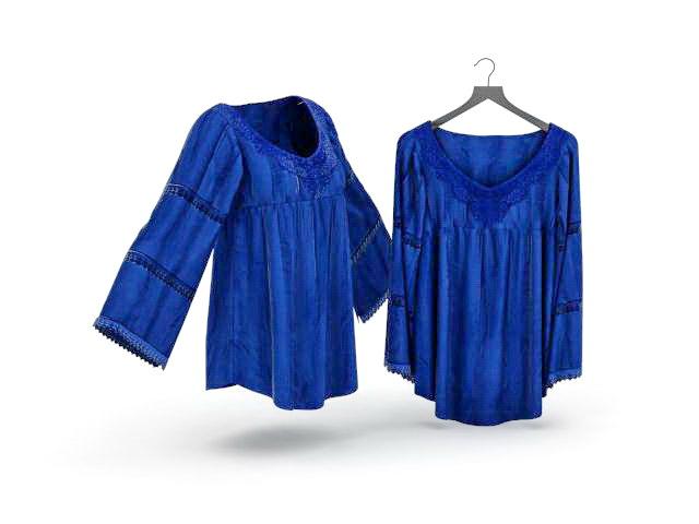 Ladies blouses 3D model