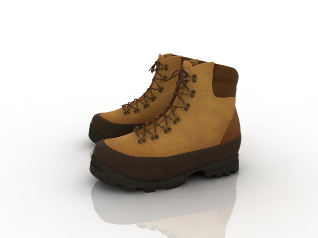 Leather boots 3D model