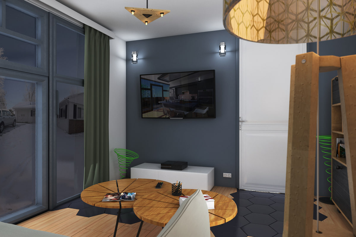 Living Room French Style 3D model