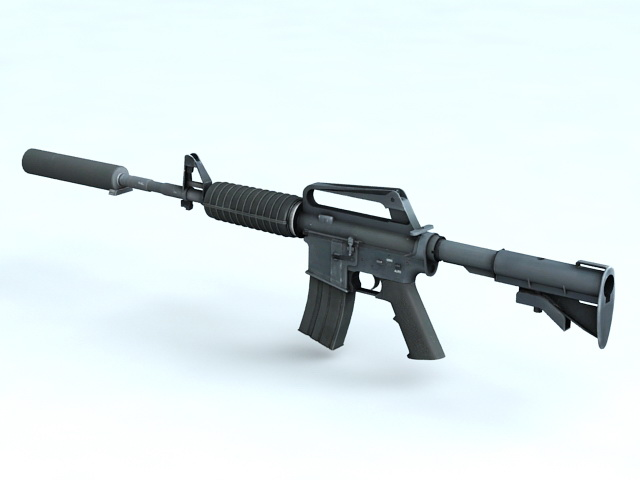 M4A1 Carbine with Silencer 3D model