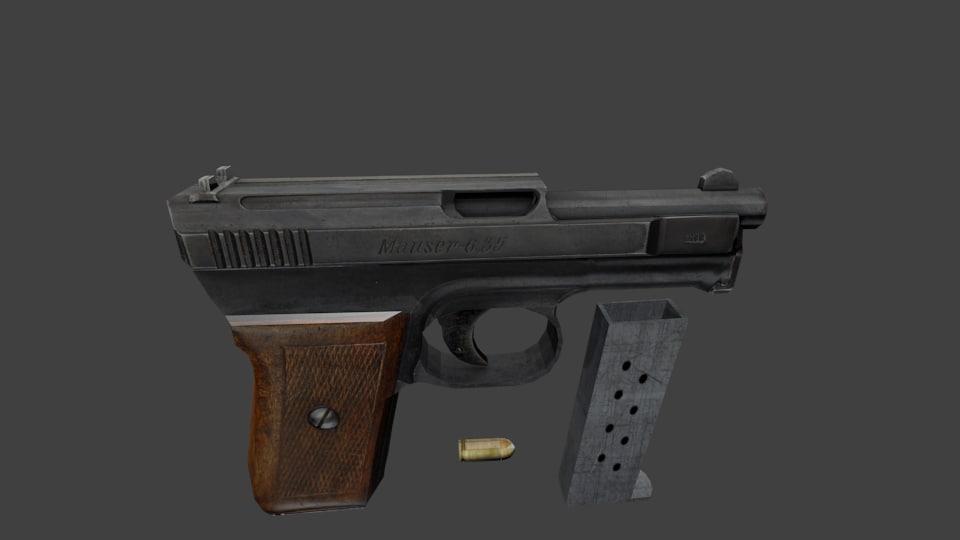 Mauser M1910 3D model