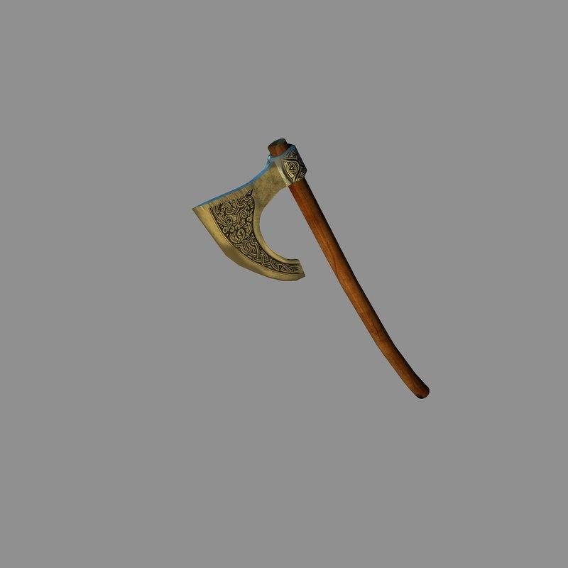 Medieval battle axe 3D model