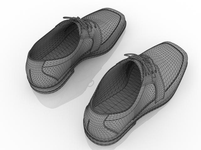 Men's Formal Shoes 3D model