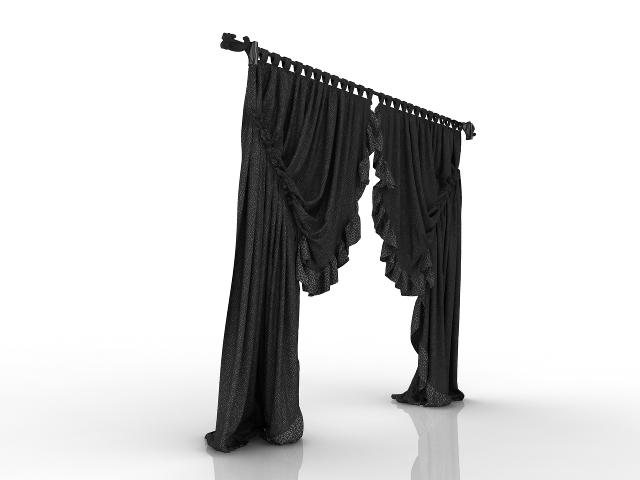 Modern curtains 3D model