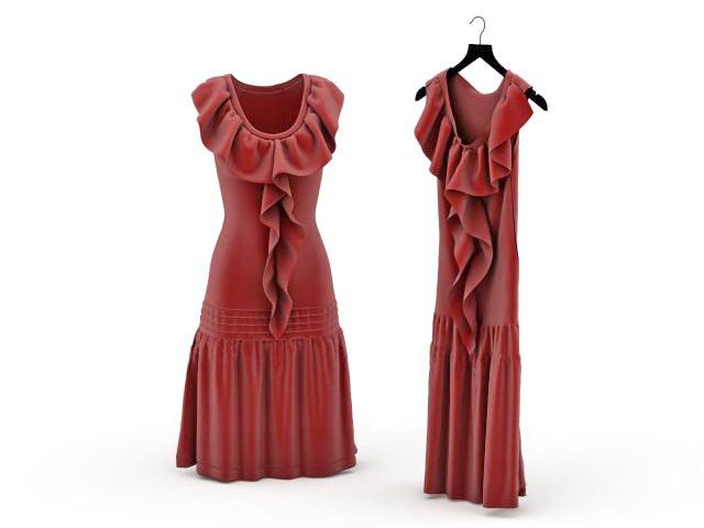 Party dress 3D model