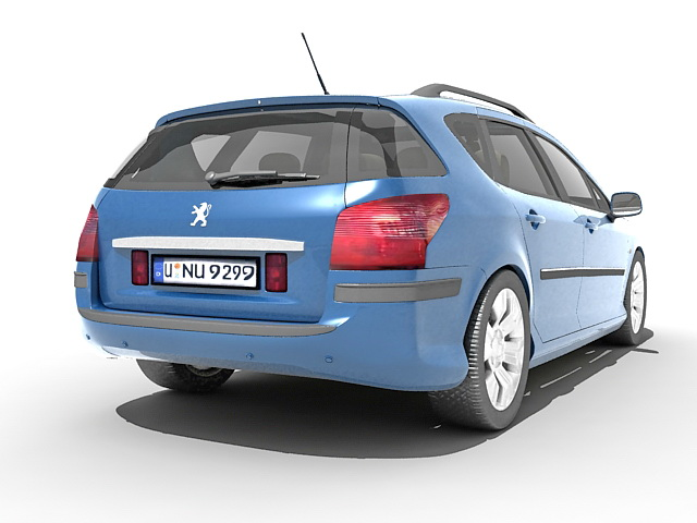 Peugeot 407 station wagon 3D model