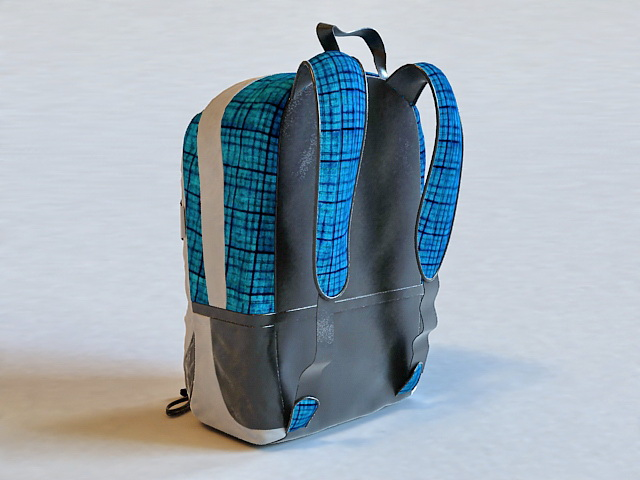 School Backpack 3D model