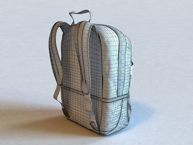 School Backpack 3D model Download for Free
