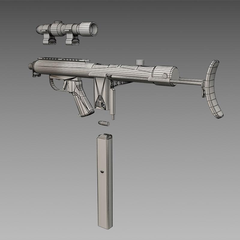 Sidewinder Submachine Gun 3D model