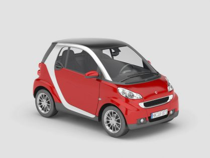 Smart red car