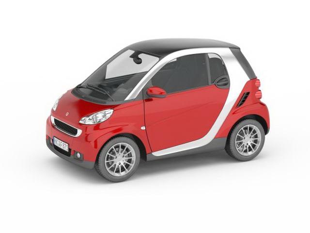Smart red car 3D model