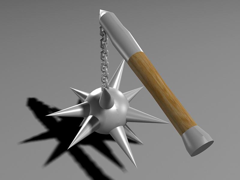 Stick Chain Mace 3D model