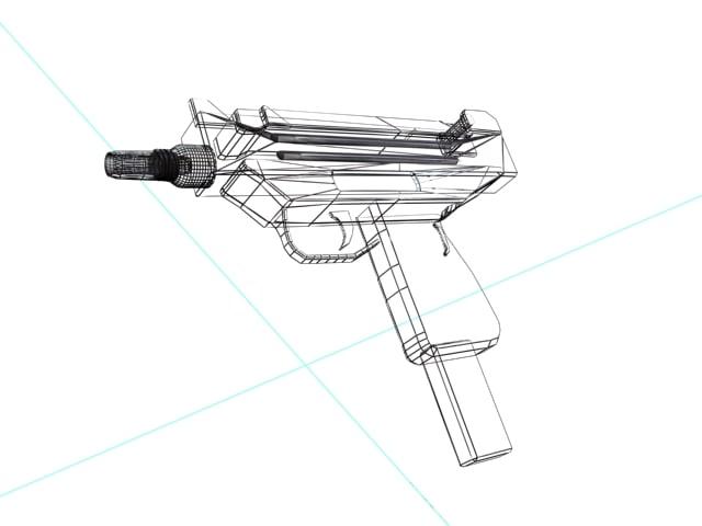 Uzi 3D model