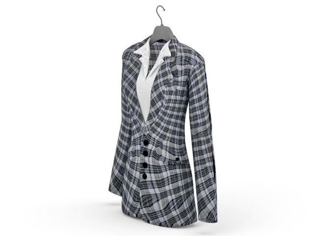Women's Suit Jacket 3D model