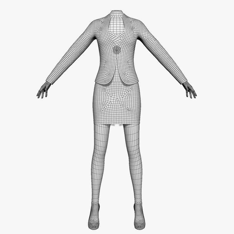 Women's suit 3D model