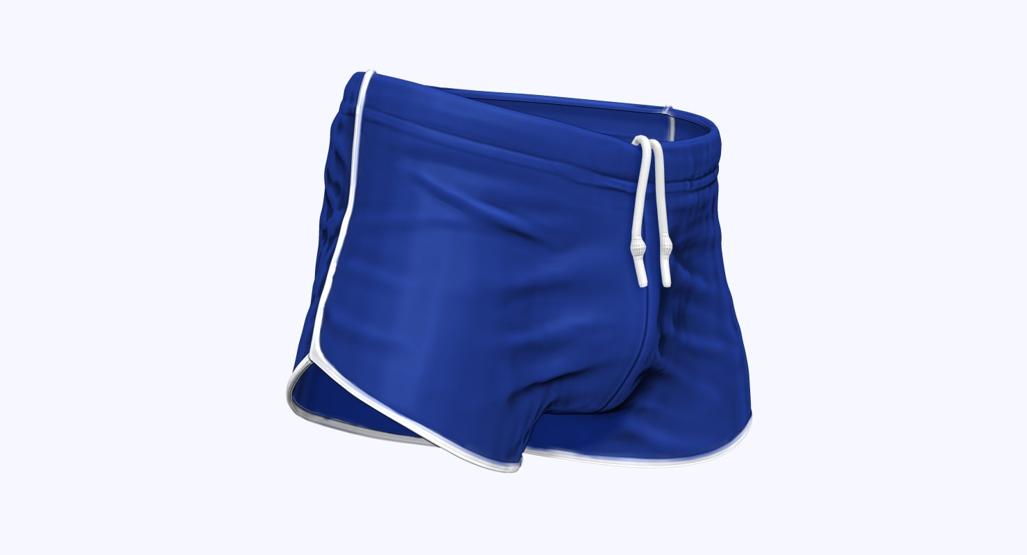 Workout Shorts 3D model