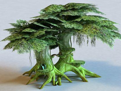 Anime Elf Tree House