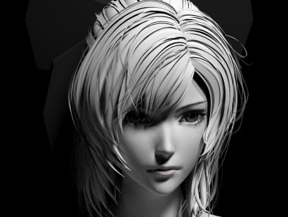Anime Girl Head