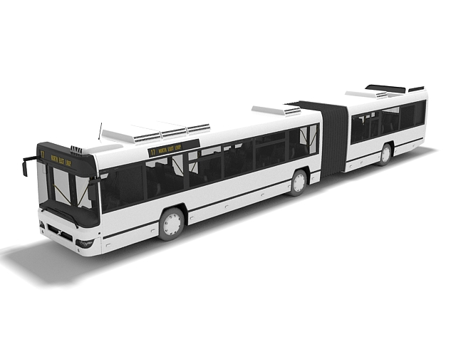Articulated bus 3D model