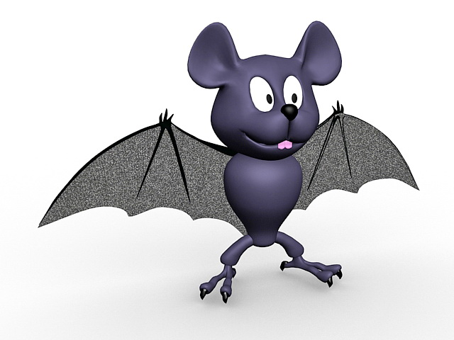 Bat cartoon 3d model