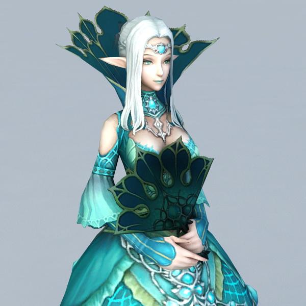 Beautiful Elf Princess 3D model