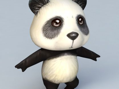 Cartoon Anime Panda