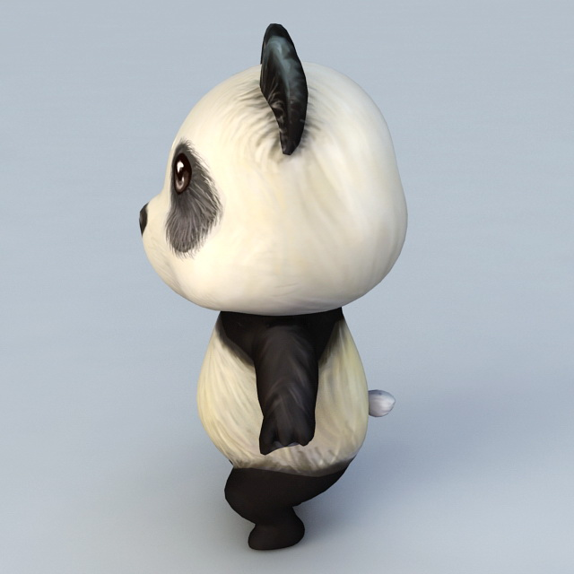 Cartoon Anime Panda 3D model