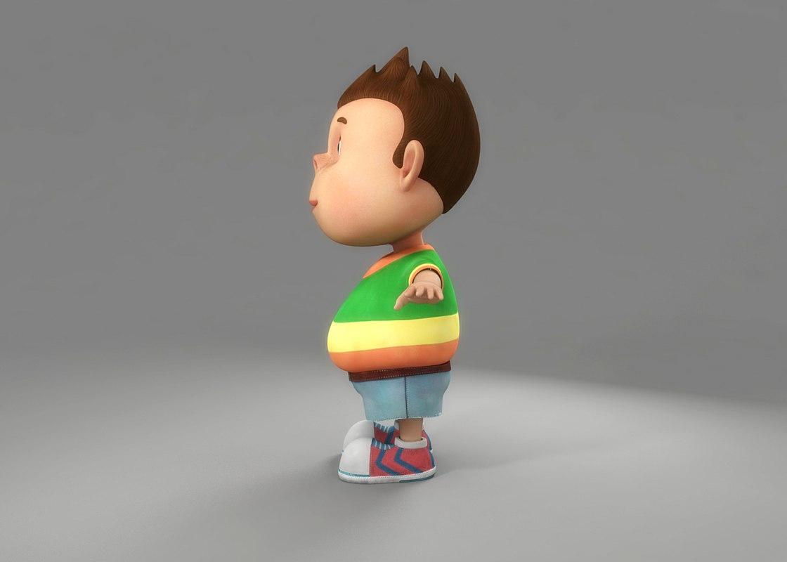 Cartoon Boy 3D model