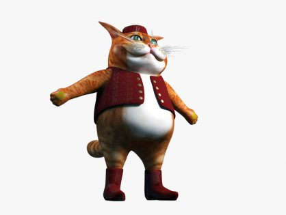 Cartoon Fat Cat