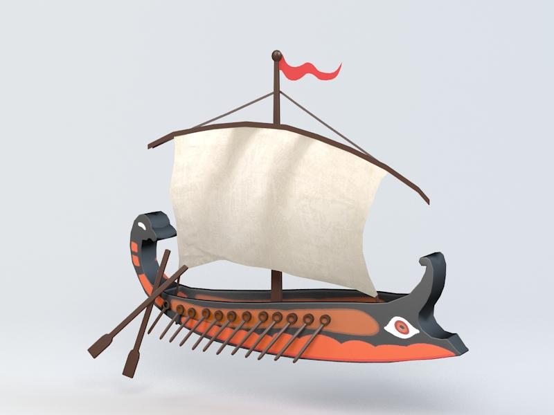 Ancient Ship 3d model