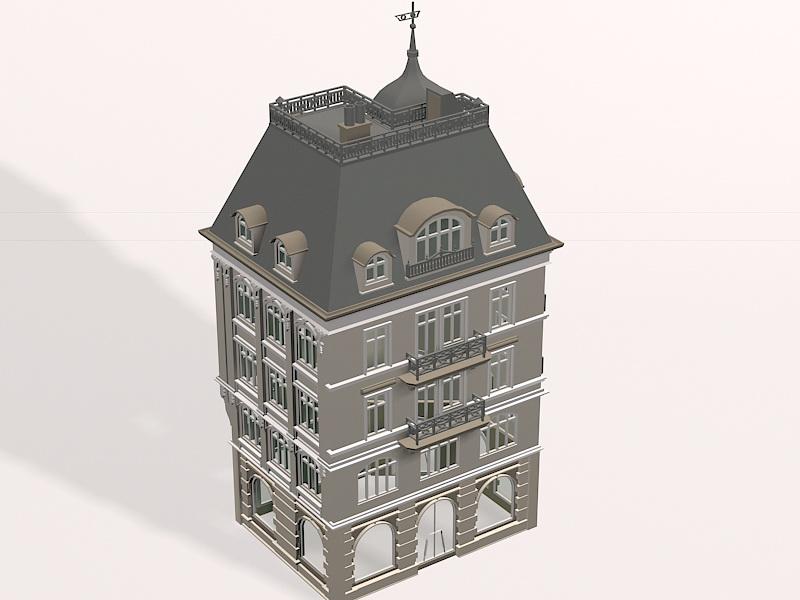 Classic German building 3D model