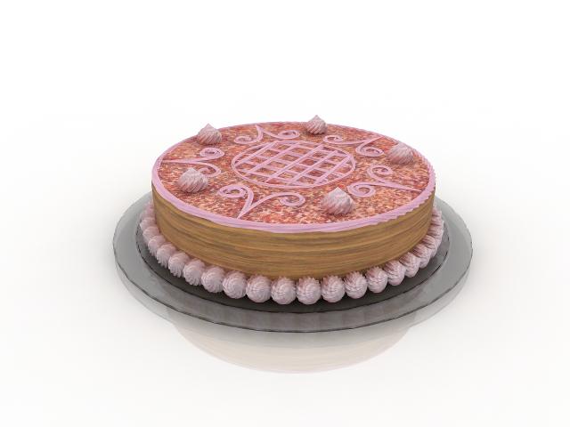 Cream Cake 3D model