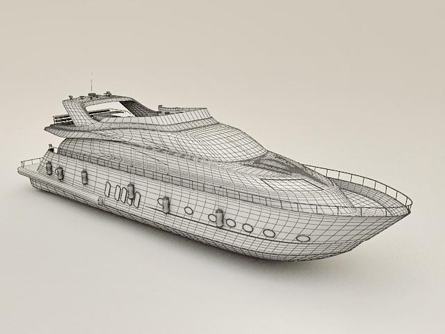 Exclusive Yacht 3D model