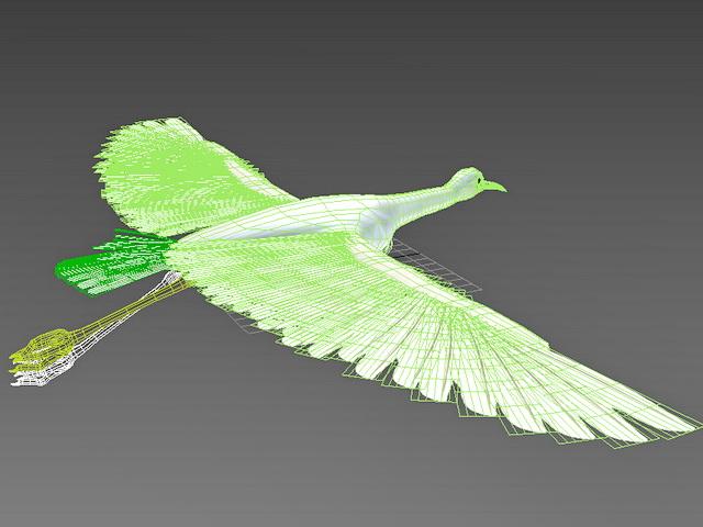 Flying Egret 3D model