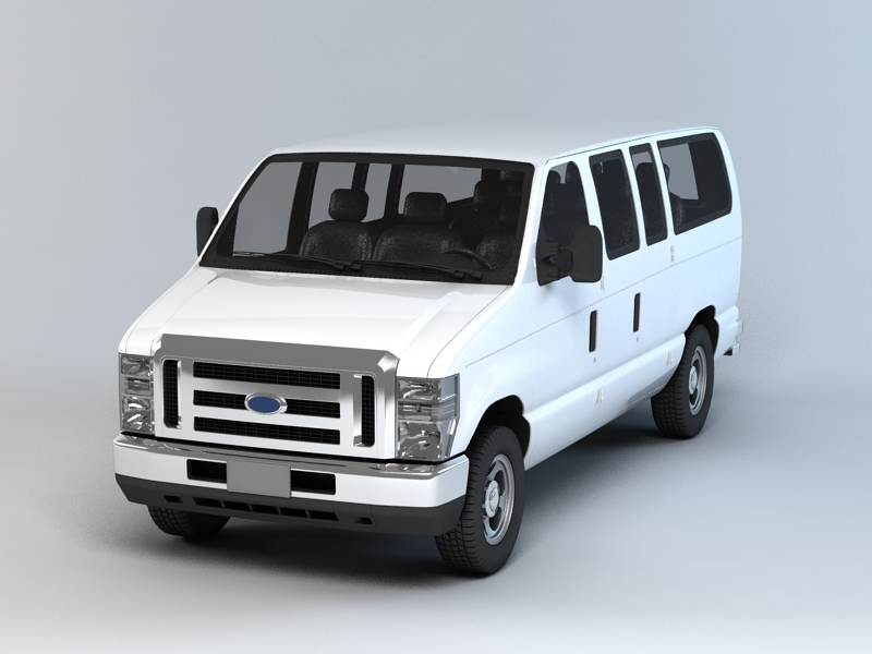 Ford Econoline Wagon E-350 Super Duty XL 3D model