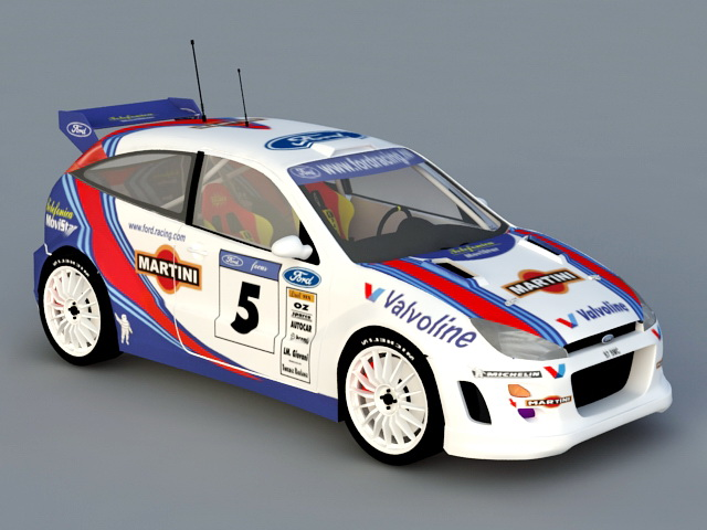 Ford Focus RS WRC 3D model