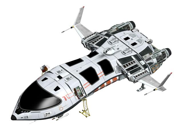 Futuristic Spaceship Concept 3D model