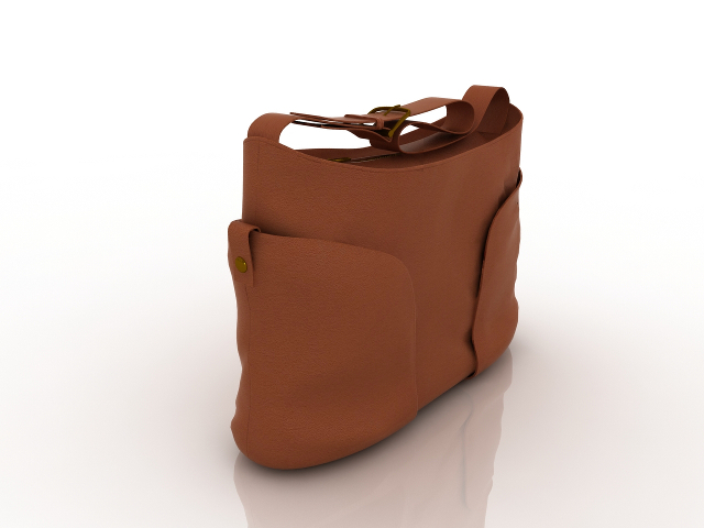 Handbag brown 3D model