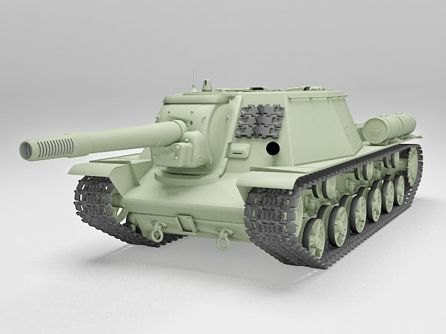 Heavy howitzer SU-152 3D model