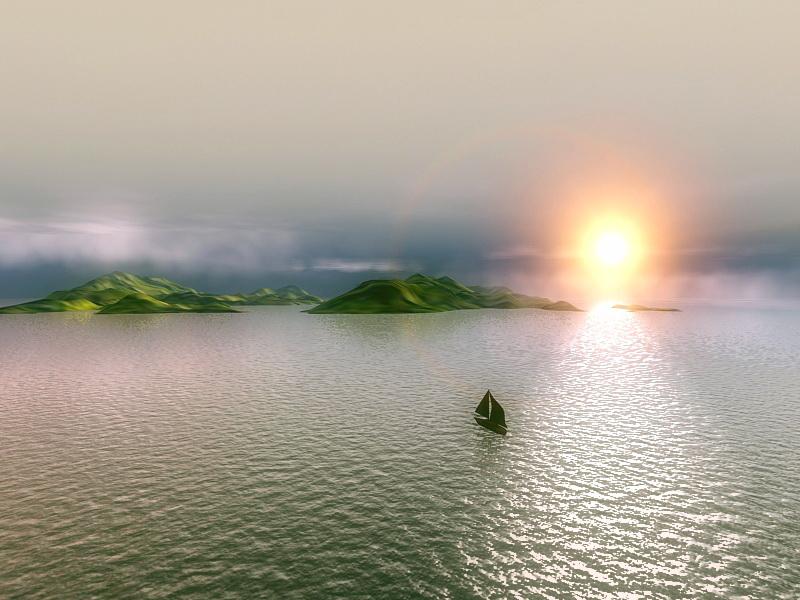 Island Sunset 3D model