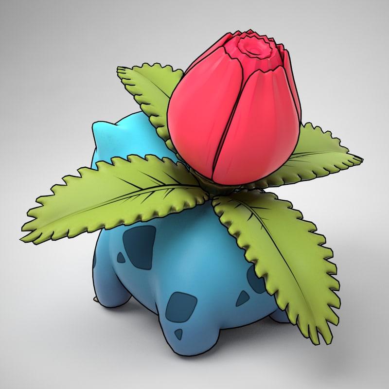 Ivysaur Pokemon 3D model
