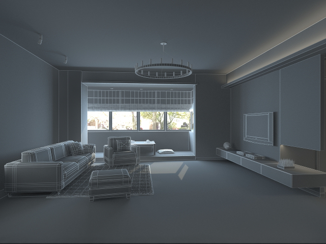 Living room studio 3D model