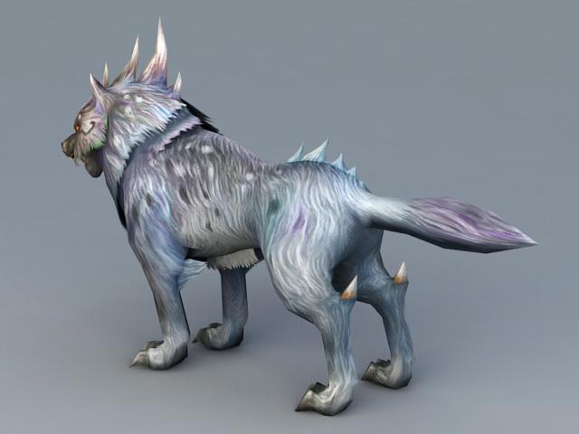 Magic Wolf 3d model