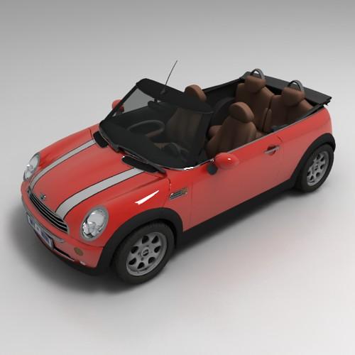 Mini Cooper S Convertible 3D model