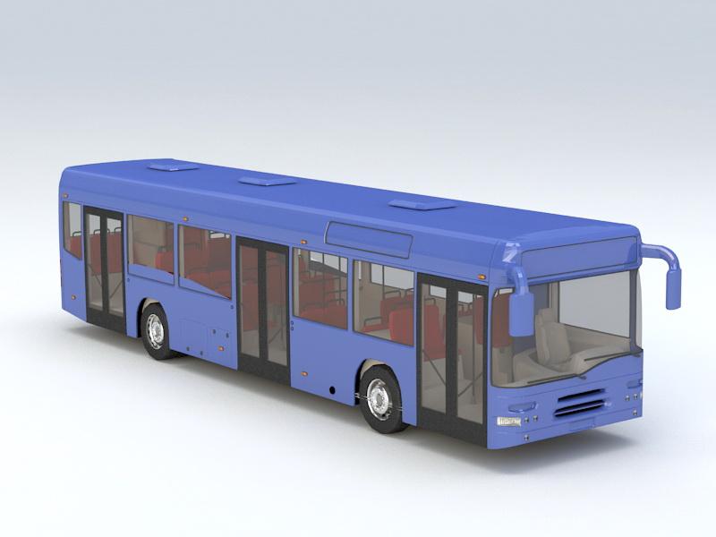 Modern City Bus 3D model
