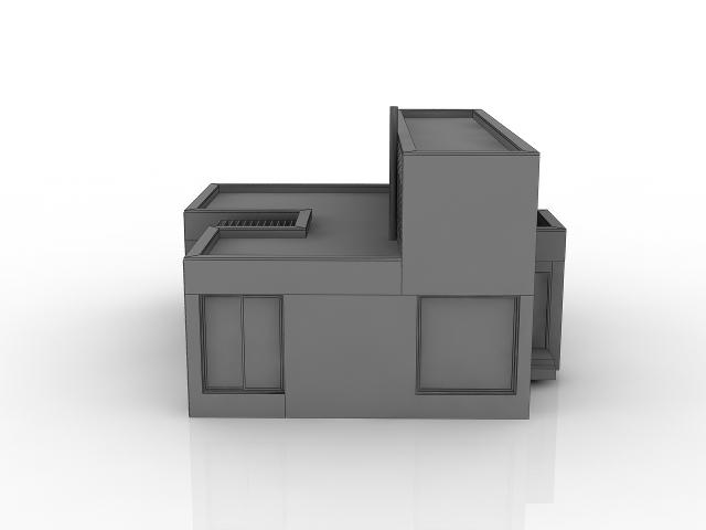 Modern cottage 3D model