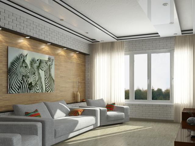 Modern living room 3D model