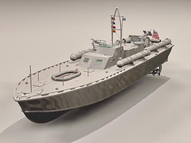 Motor Torpedo Boat PT-109 3D model