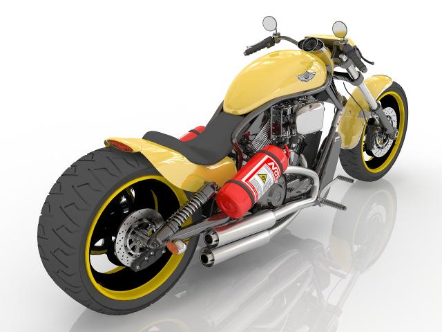 Motorcycle Kawasaki 3D model